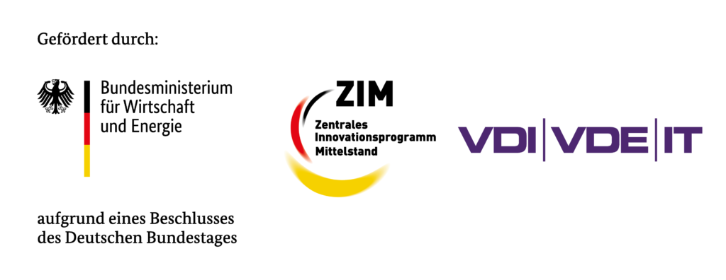 Gefördert durch das Bundesministerium für Wirtschaft und Energie im Rahmen des Zentralen Innovationsprogrammes Mittelstand