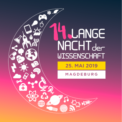 Logo der 14. Langen Nacht der Wissenschaft in Magdeburg